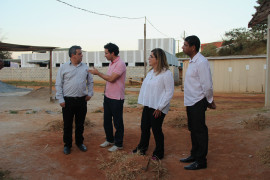 Cristiano Silveira visita construção de UBS e Escola em São João del-Rei