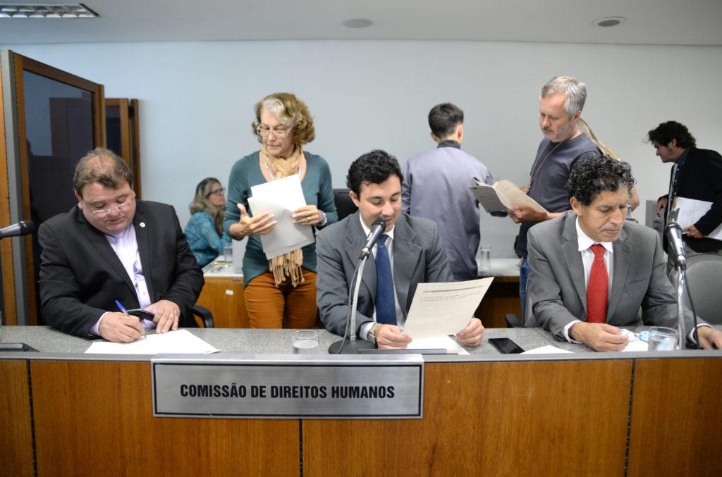 Celinho do Sinttrocel (deputado estadual PCdoB/MG), Cristiano Silveira (deputado estadual PT/MG), Geraldo Pimenta (deputado estadual PCdoB/MG)