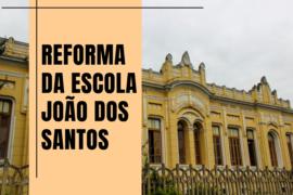 Cristiano cobra reforma da Escola João do Santos de São João del-Rei