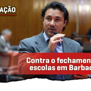 Cristiano é contra o fechamento de escolas em Barbacena