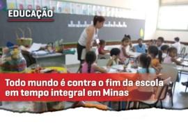 Todo mundo é contra o fechamento da escola em tempo integral em Minas