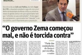 """""""O governo Zema começou mal, e não é torcida contra"""", diz Cristiano Silveira em entrevista à Rádio Super"""