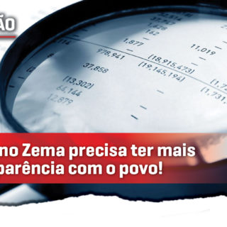 Governo Zema precisa ter mais transparência com a população