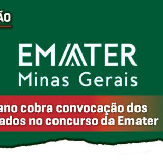 Cristiano cobra nomeação dos aprovados no último concurso da Emater-MG