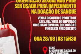 Audiência discute fim da restrição a doadores de sangue homossexuais