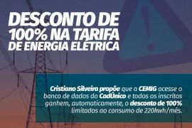 Projeto propõe isenção de tarifa de energia elétrica para todos os consumidores de baixa renda