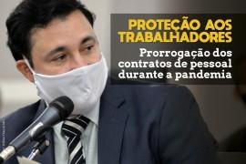 Projeto impede demissão de servidores contratados do Estado durante a pandemia