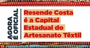 Resende Costa é oficialmente a capital mineira do artesanato têxtil