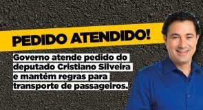 Governo atende pedido do deputado Cristiano Silveira e mantém regras para transporte de passageiros