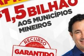 R$1,5 bilhão para os municípios mineiros